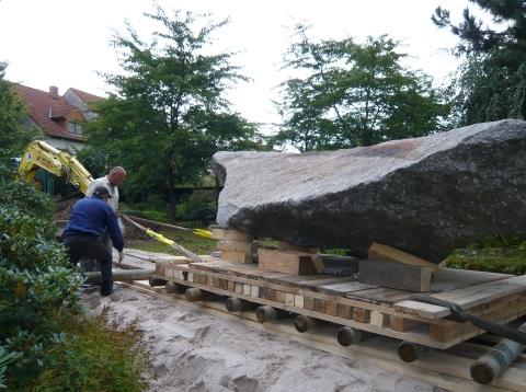 Japanischer Garten: Anlage Steinsetzung